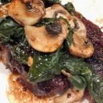 one pan pork chop mushrooms spinach