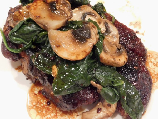 One-Pan Pork Chop Mushrooms Spinach