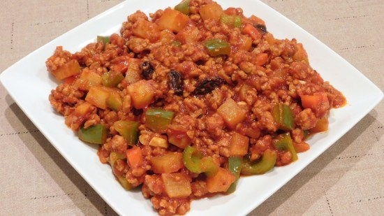 Ground Pork Menudo