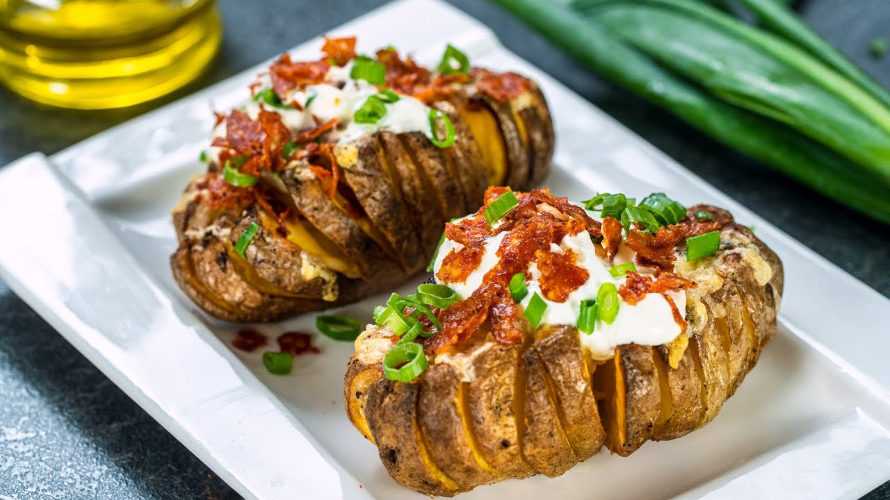 Bloomin' Baked Potato - Perfect Oven Baked Potatoes