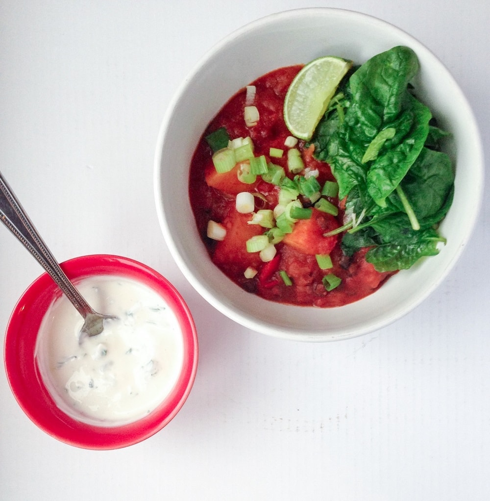 Chorizo Chilli With Lime and Coriander Yoghurt