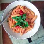 Cheesy Roasted Red Pepper One Pot Pasta