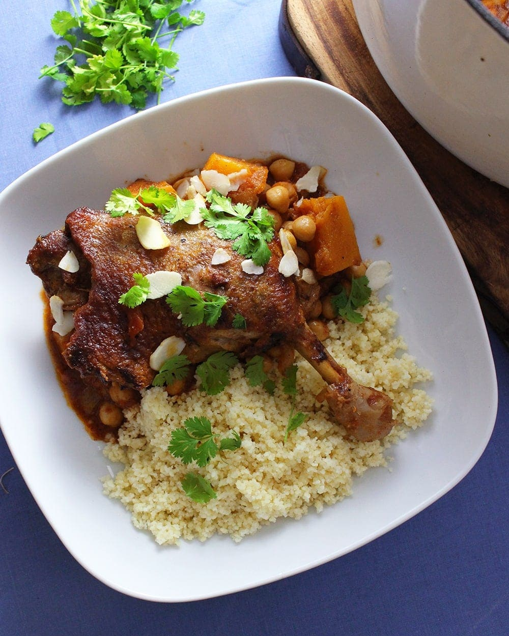 Duck Tagine With Chickpeas and Butternut Squash
