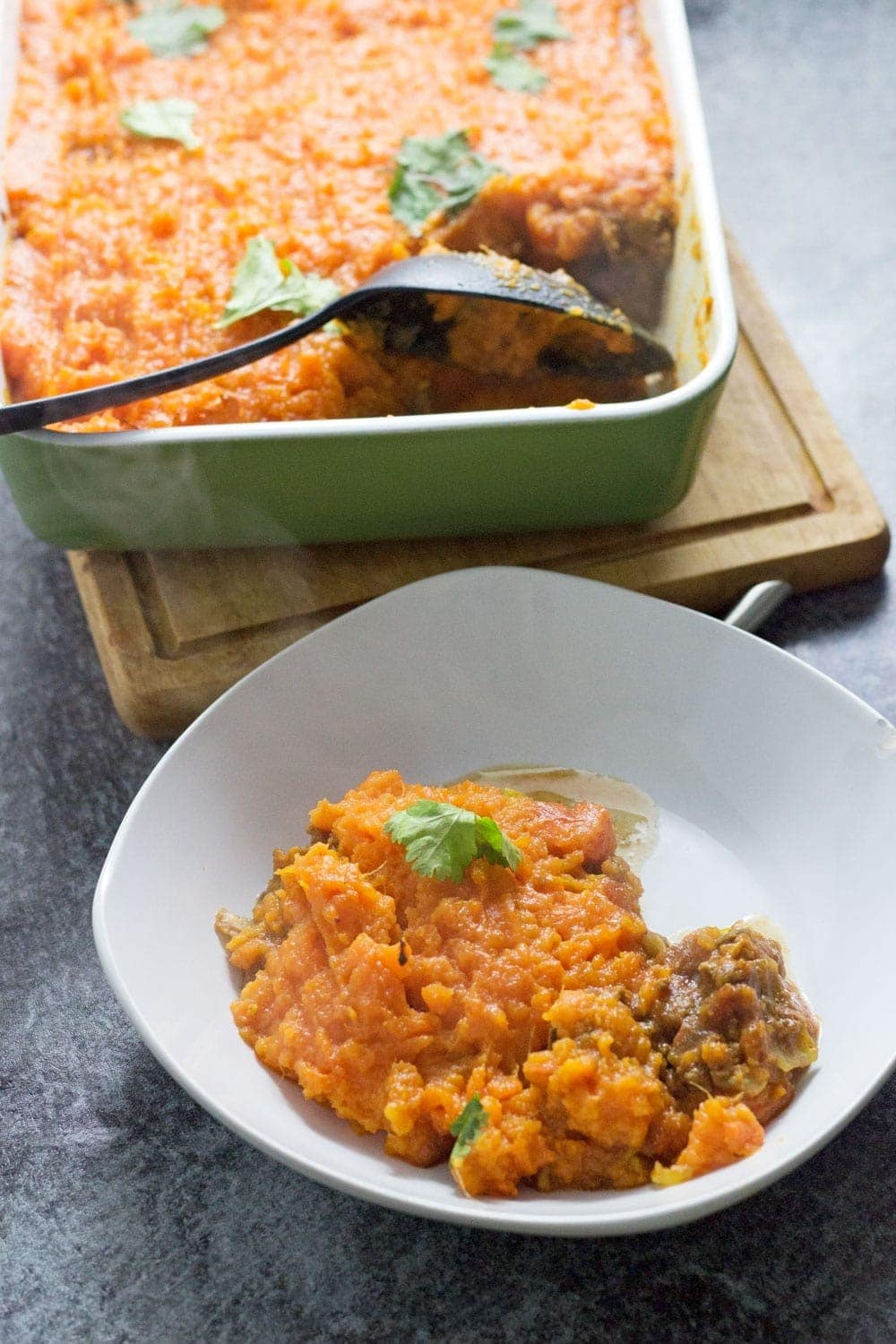 This Moroccan cottage pie is a brilliant twist on a traditional recipe. The beef is spiced with ras-el-hanout and cumin and topped with mashed sweet potato.