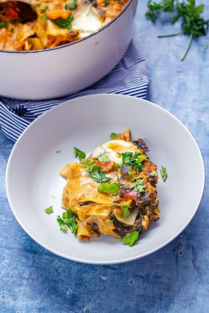 Easy One Pot Vegetarian Lasagne • The Cook Report