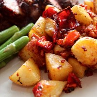 Sautéed Potatoes with Red Pepper and Chorizo