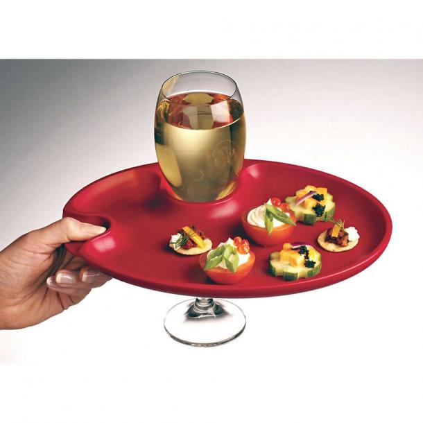 Appetizer Amp Wine Glass Plates The Coolest Stuff Ever