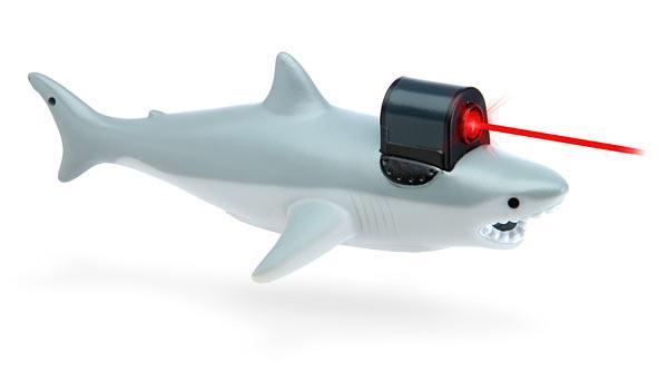 shark with frickin laser