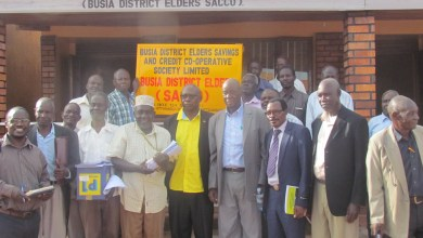 Older persons in the goup photo at the newBusia district elders sacco
