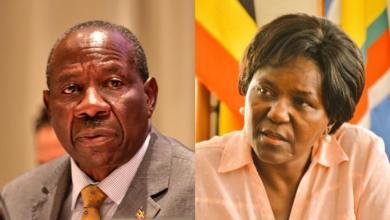Finance Minister, Matia Kasaija and Works Minister, Monica Ntege Azuba