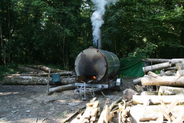 Charcoal making in the Wildlife Trusts Pengelli woods