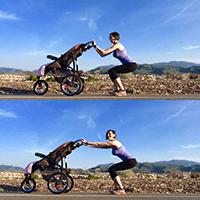 Stroller arm push-pulls