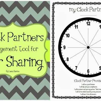 Collaborate With Clock Partners – Classroom Management Freebie