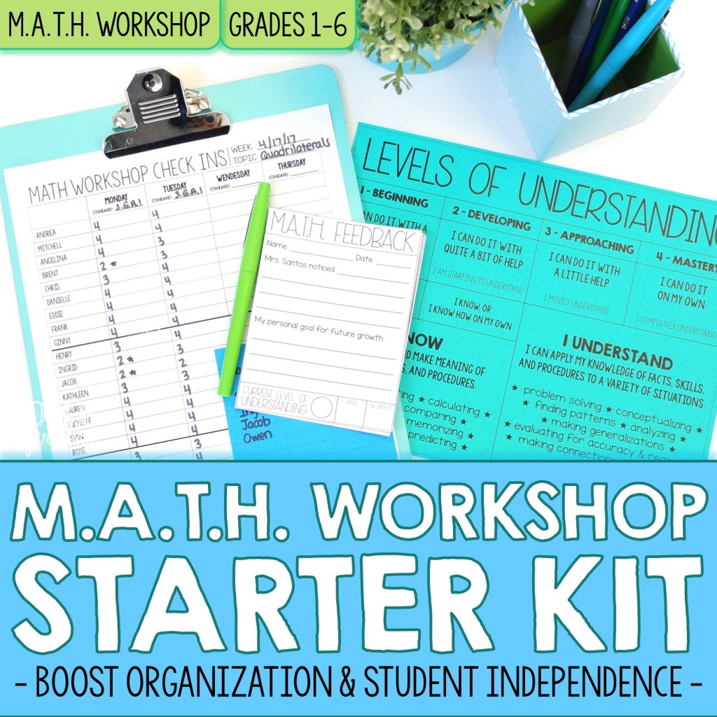 COVER Core Inspiration Math Workshop Starter Kit