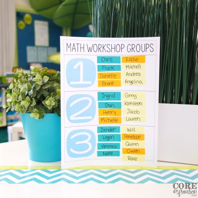 Math Workshop Small Group Organization