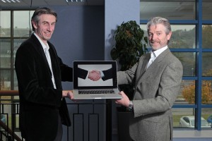 DC 27/10/2015 - REPRO FREE FREE PIC Conor Buckley and Sean Byrne announce a partnership between Granite Digital and Enhance Multimedia worth Û2m in turnover, that will see them provide web design, development and digital marketing services nationwide. Pic: Diane Cusack