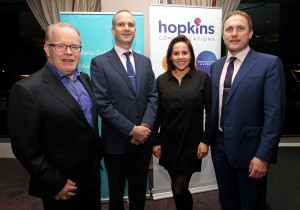 REPRO FREE - FREE PICTURES. 24/11/2015. Economic Briefing on the economic recovery and its implications for Cork and County, at the Clarion Hotel, Lapps Quay, Cork. Pictured at the briefing, Willie O'Reilly, Group Commercial Director RTE, Garret Marrinam, Clarion Hotel Cork, Katie Power, RTE and Mark Hopkins, Hopkins Communications. Picture: Jim Coughlan. Cork ranks above the national average in terms of its economic recovery   A new economic analysis has shown that the South West has enjoyed a stronger rebound in employment than the national average.    Leading economist Seamus Coffey, speaking at an Economic Briefing in Cork today (24th November 2015) says that Cork city and county have also seen a faster than average drop in numbers signing on the Live Register.  Mr. Coffey, who is a lecturer in University College Cork, has analysed the economic trends in the Cork area using traffic volumes, employment, rents and the presence of multinationals.     The Economic Briefing event, which was hosted by RTE Media Sales, Hopkins Communications and the Clarion Hotel, saw David Murphy, Business Editor at RTE News, chair an in-depth discussion on the extent of 'The Recovery' around the regions, with a special focus on Cork.    Bob Savage (Vice-President & MD at EMC Ireland) and Jim Woulfe (CEO at Dairygold), two of the region's largest employers, participated in the discussion, with lively input from business leaders in the audience.   Seamus Coffey analysed the local trends, and the key findings were as follows:   • Employment:  Employment nationally has grown 2.9% in the past 12 months – while the South-West Region (Cork & Kerry) has outstripped this at 3.3%, with increased employment of almost 10,000.   • Housing:  Rents countrywide are up 9% in the last 12 months – rents in Cork city have risen by 13.5%, and 10% in the County.   • Cars & Traffic:  The national average new car sales registered is up 70% compared to 2013, while in Cork city and county the