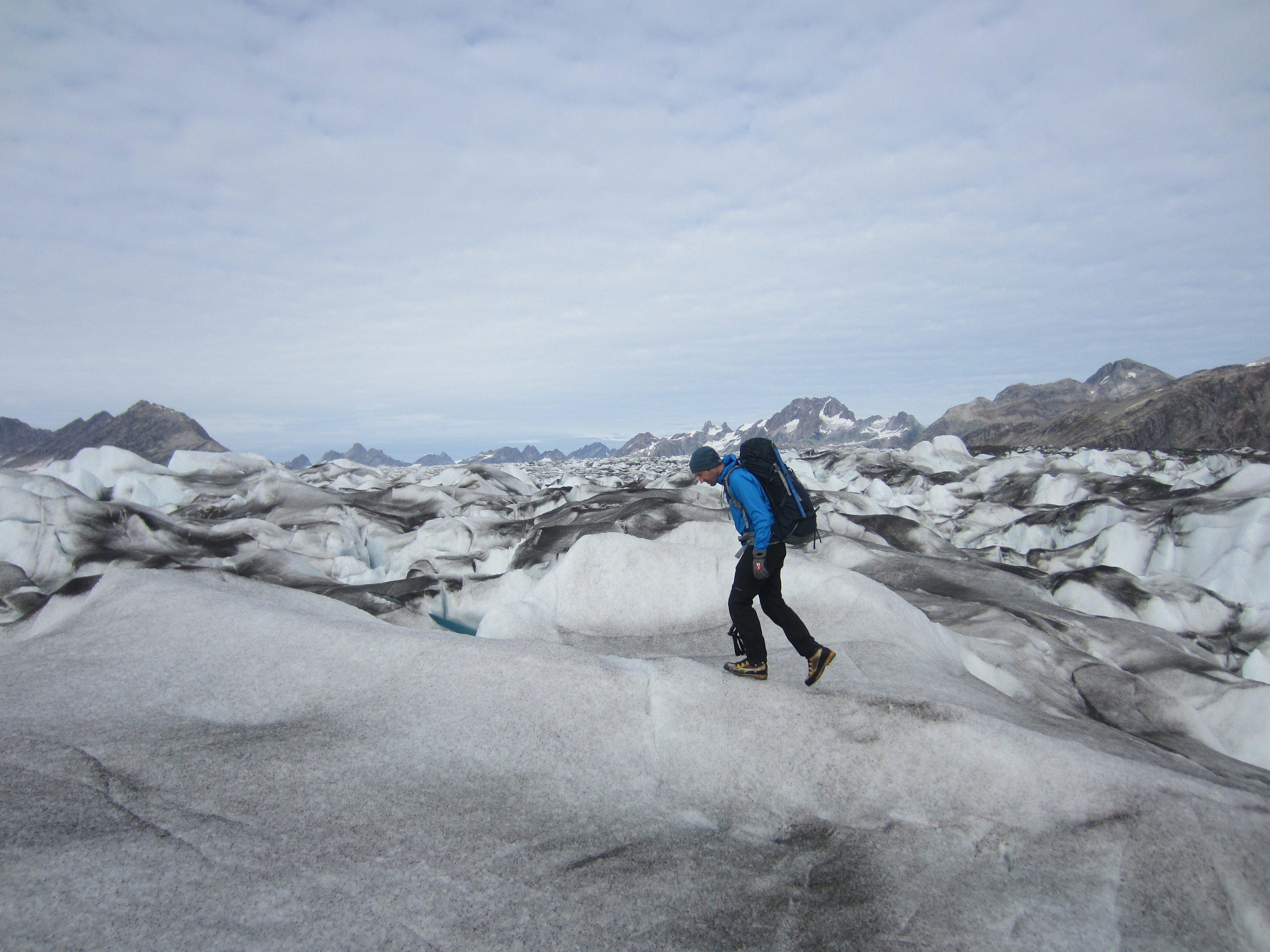 Robert Macfarlane - Knud Rasmussen Glacier, East Greenland - (c) Helen Spenceley.jpg