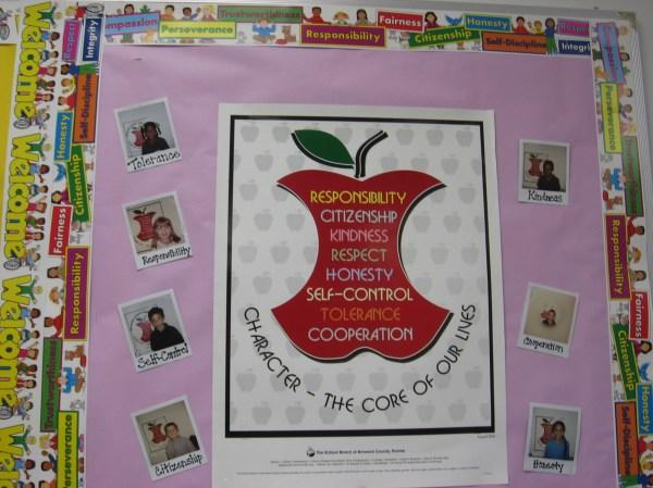 Character Education Bulletin Board Ideas