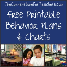 Free printable behavior plans/charts + video and article with ideas for implementation.