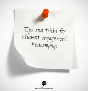 tips and tricks for student engagement