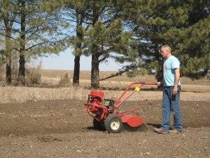 John plowing a field