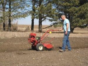 John plowing