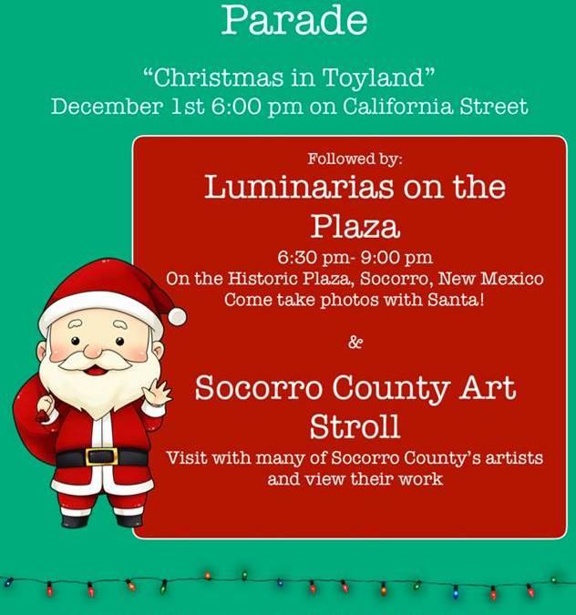 Luminarias on the Plaza & Arts Stroll – Socorro, NM