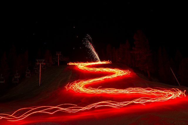 Red River Ski & Summer Area Torchlight and Fireworks Parade – Red River, NM