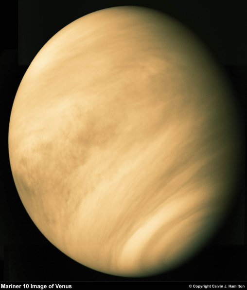 Venus viewed by Mariner 10