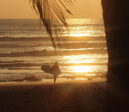 surfing sunsets costa rica