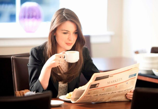 Drinking coffee is so common while doing any activity.