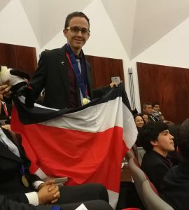 Winner of the 22nd Ibero-American Chemistry Olympiads 2017