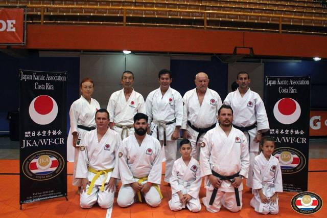 Costa Rica has an important represantation for international tournaments certified by JKA.
