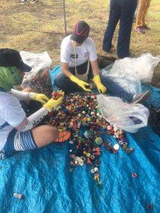 collecting contaminating plastic