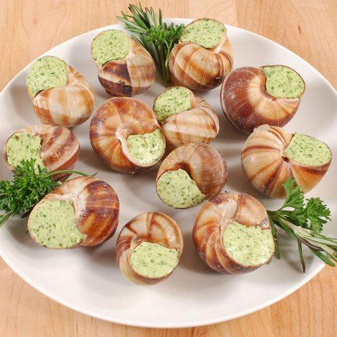 Escargots are French delicatessen.
