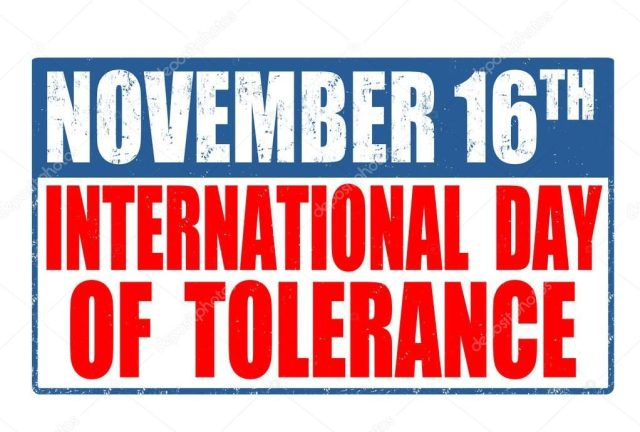 The poster on the international day of tolerance.