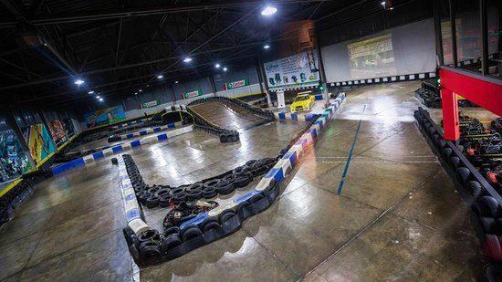 Indoor view of an excellent Formula-Kart track