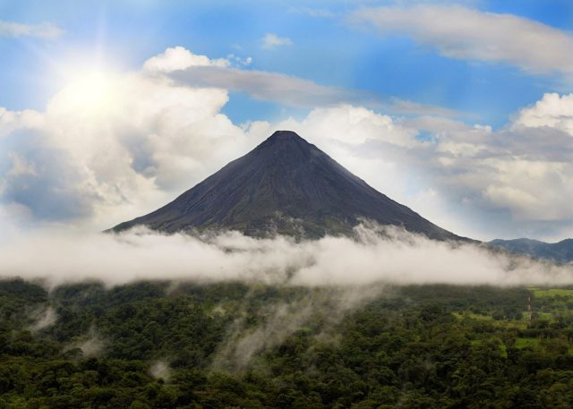This volcano is one of the main touristic attractions in Costa Rica.