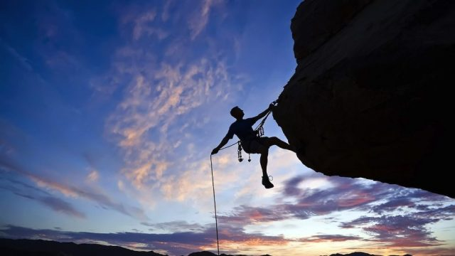 Climbing is an extreme physical exercise not suitable for everyone.