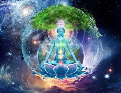 Earth meditation lotus art