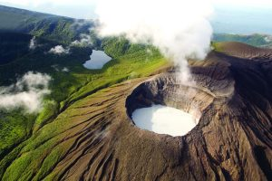 """This volcano has an almost """"perfect"""" crater."""