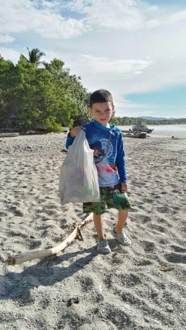 Pitching in against litter.
