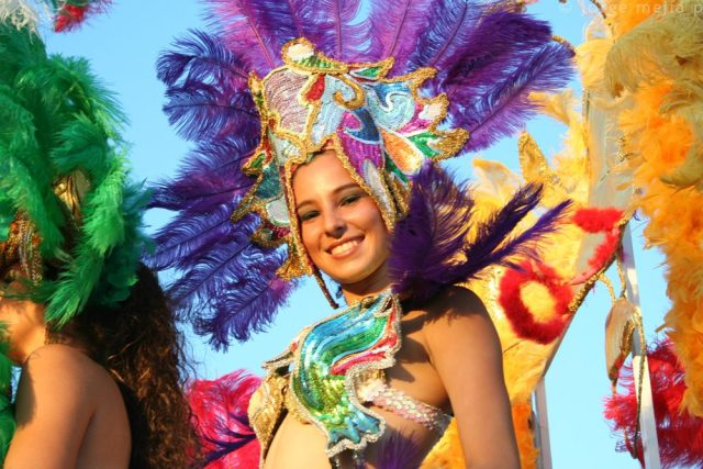 During Carnival days, lots of comparsas and dancers show their cheer on the streets of the main Costa Rican cities and towns.