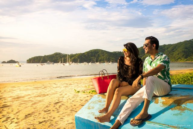 Many couples prefer going to the beautiful beaches of Costa Rica.