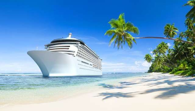 An arrival to a tropical beach can be amazing when you travel on a cruise boat.