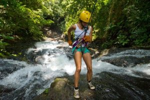 Rapelling is another great choice to enjoy waterfalls.