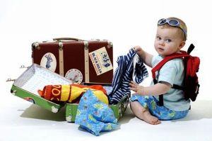 preparing suitcases