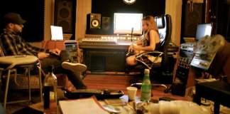 Fatiniza at a Recording Studio in Costa Rica