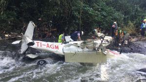 Nature Air plane crash in Guanacaste.